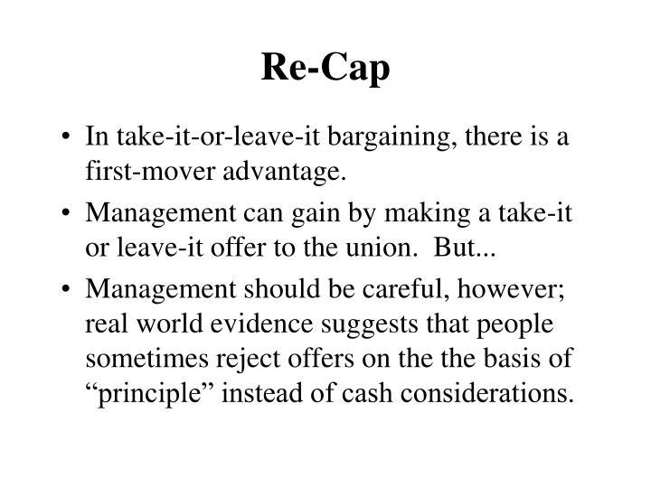 Re-Cap