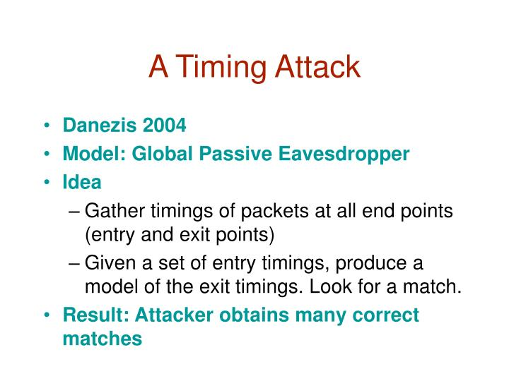 A Timing Attack