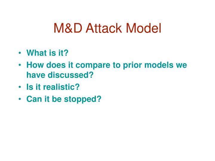 M&D Attack Model