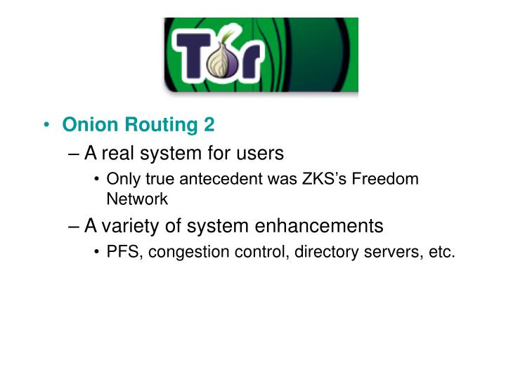 Onion Routing 2