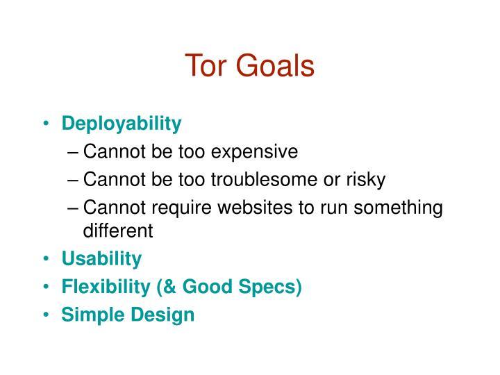Tor Goals