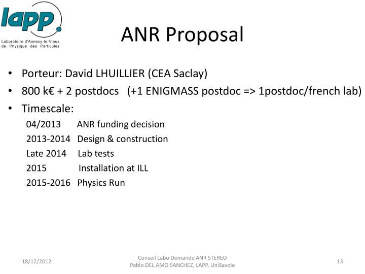 ANR Proposal