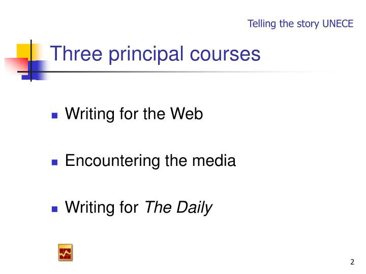 Three principal courses
