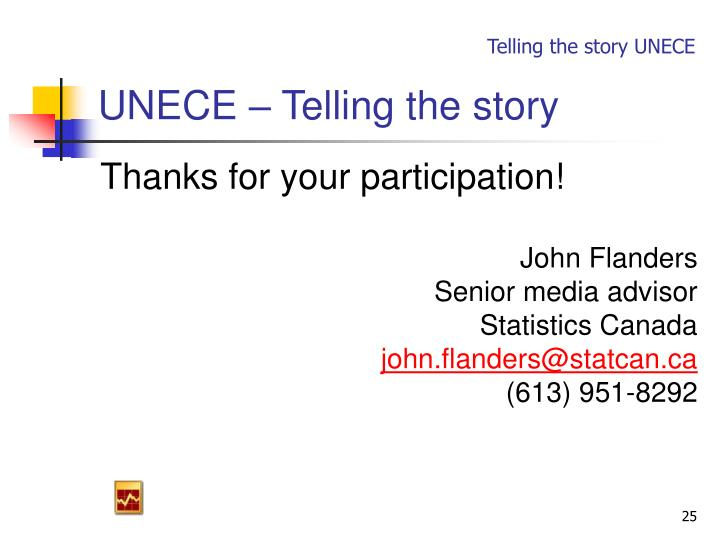UNECE – Telling the story