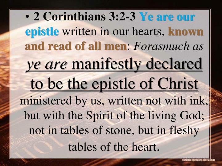 2 Corinthians 3:2-3