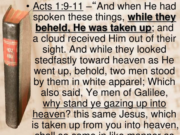 Acts 1:9-11