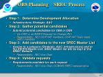 ob8 planning srec process