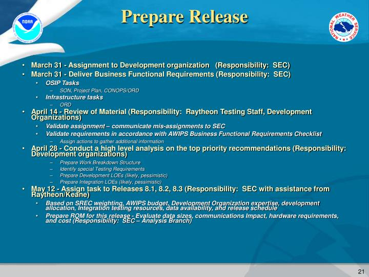 Prepare Release