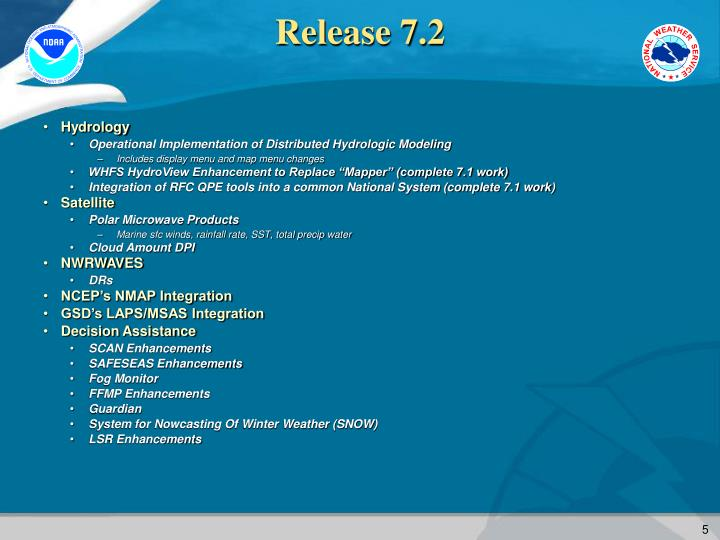 Release 7.2