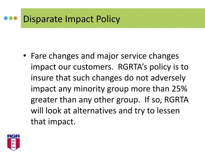 Disparate Impact Policy
