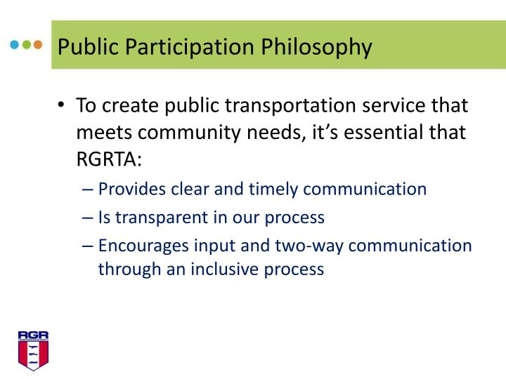 Public Participation Philosophy