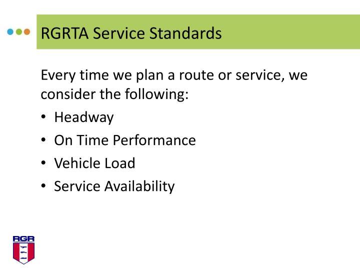 RGRTA Service Standards