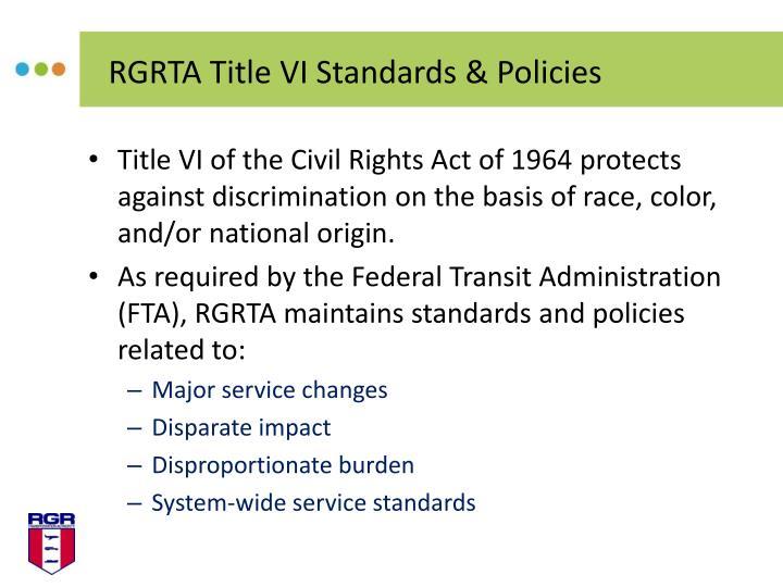 RGRTA Title VI Standards & Policies