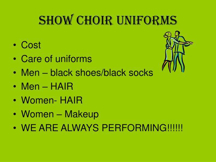 Show Choir Uniforms
