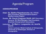 agenda program