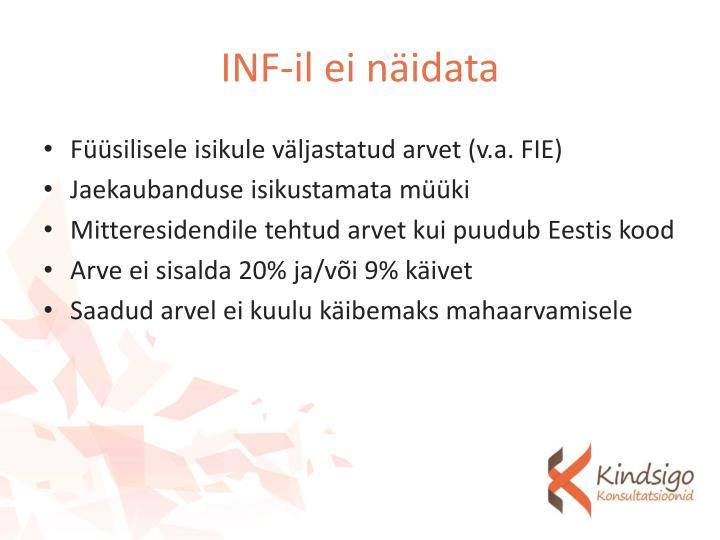 INF-il ei näidata