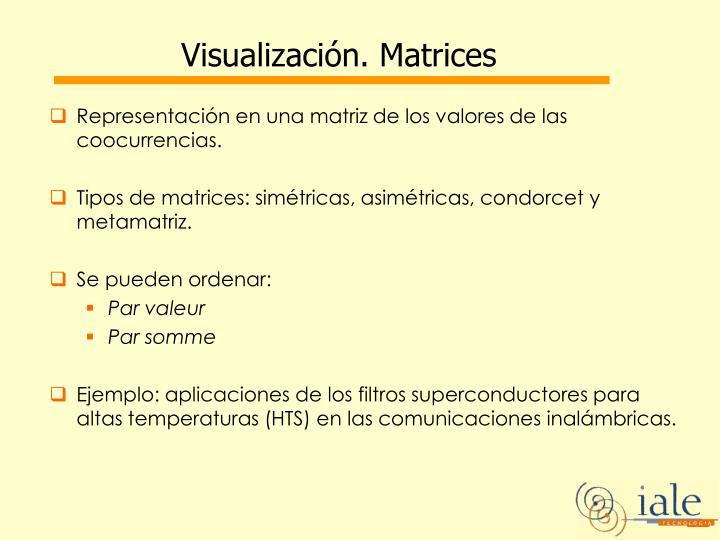Visualización. Matrices