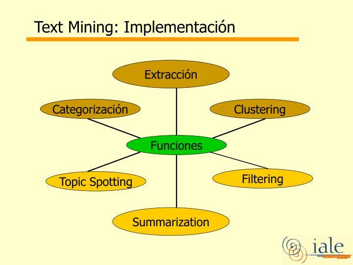 Text Mining: Implementación