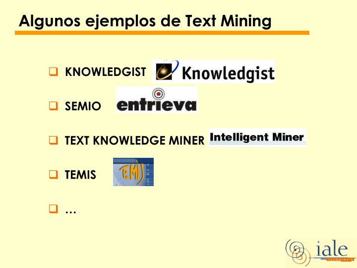 Algunos ejemplos de Text Mining