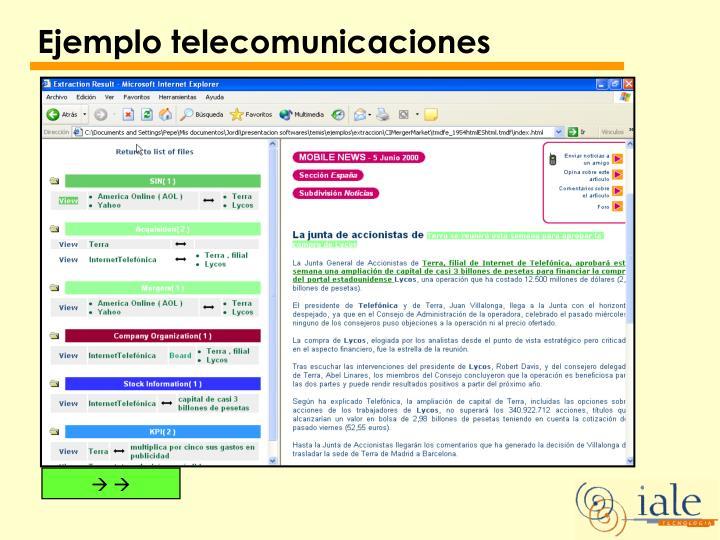 Ejemplo telecomunicaciones
