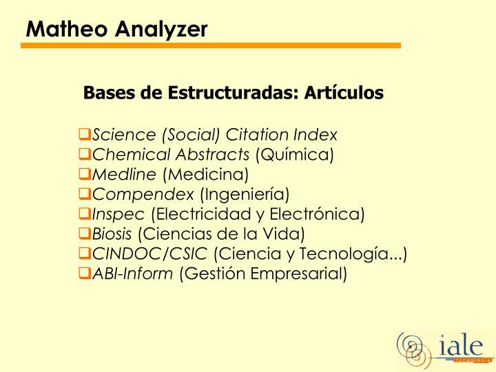 Matheo Analyzer