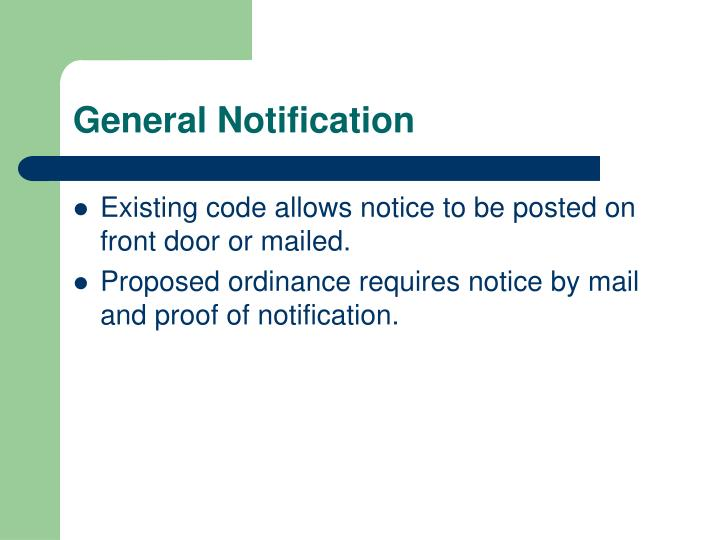 General Notification