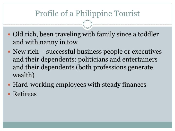 Profile of a philippine tourist