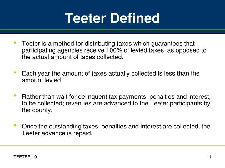 Teeter Defined