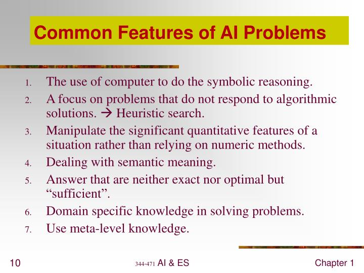 Common Features of AI Problems