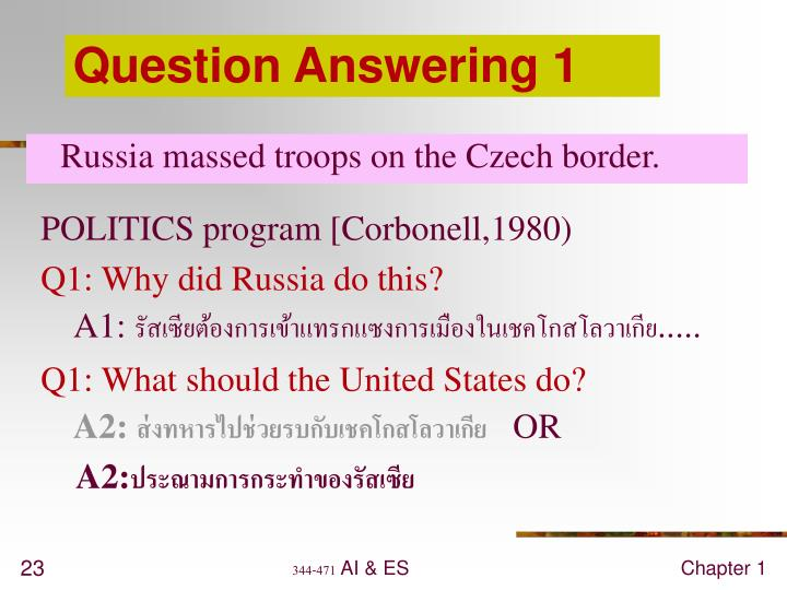 Question Answering 1