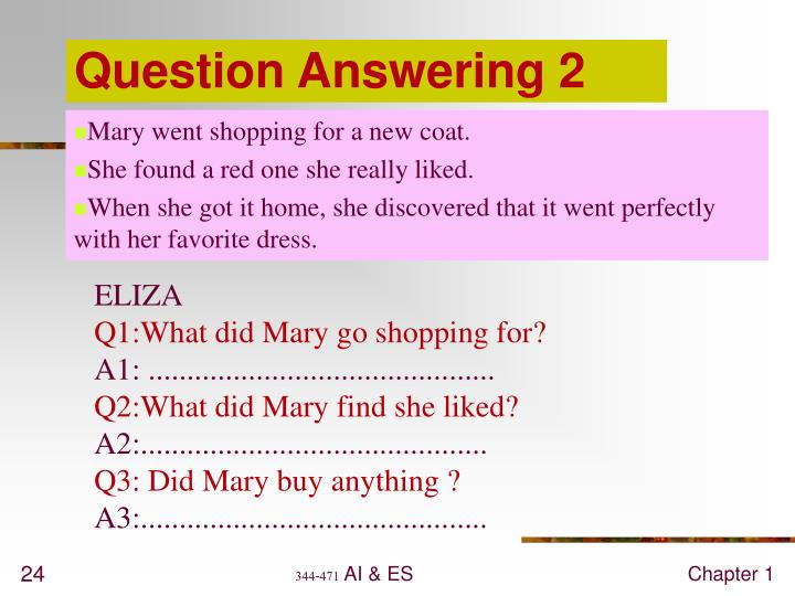 Question Answering 2