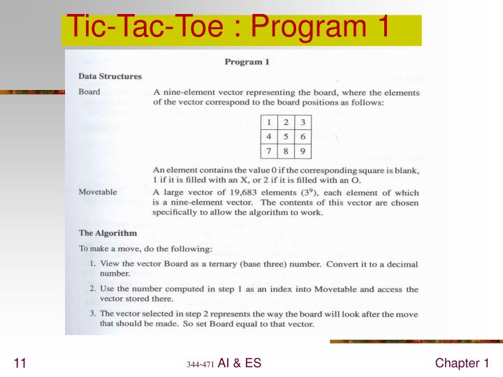 Tic-Tac-Toe : Program 1