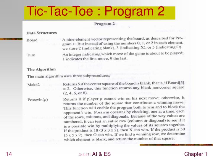 Tic-Tac-Toe : Program 2