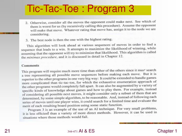 Tic-Tac-Toe : Program 3