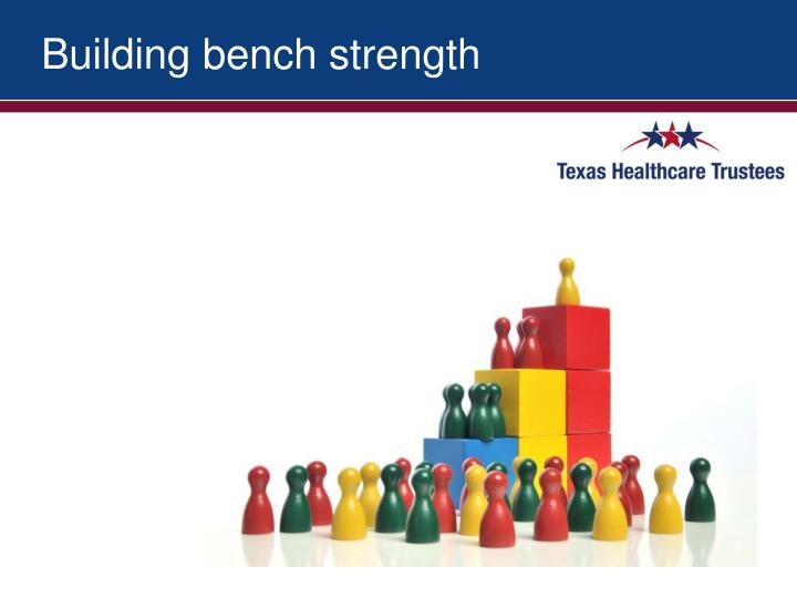 Building bench strength