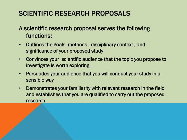 Scientific Research Proposals