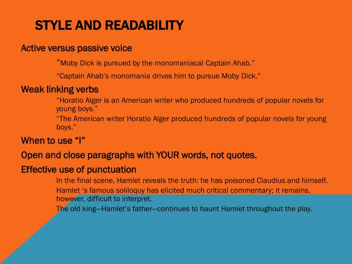 Style and Readability