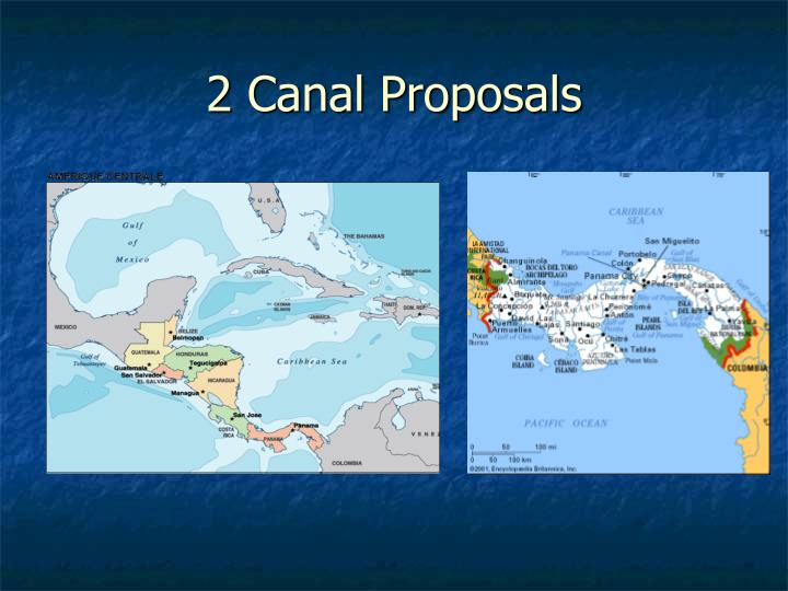 2 Canal Proposals