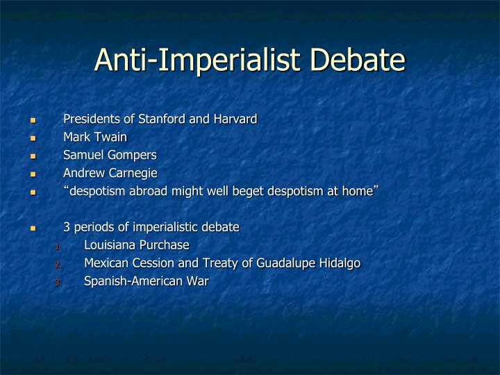 Anti-Imperialist Debate