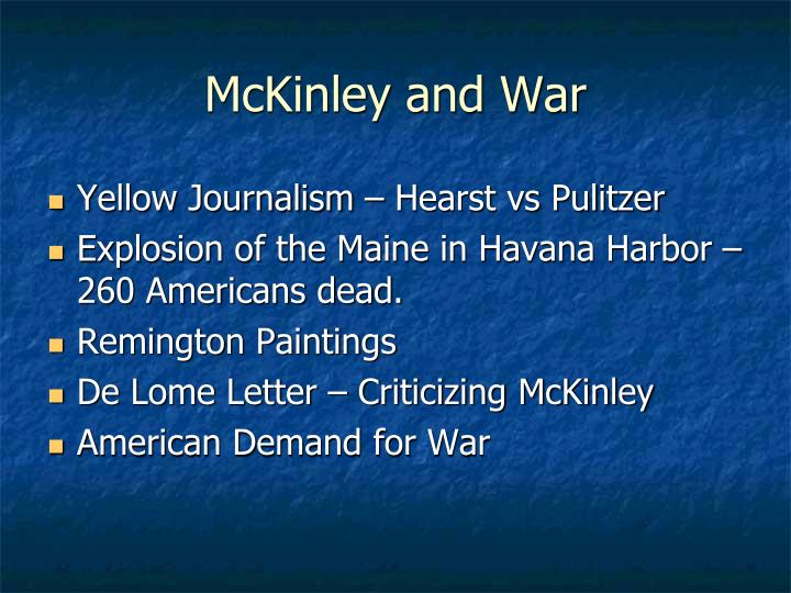 McKinley and War