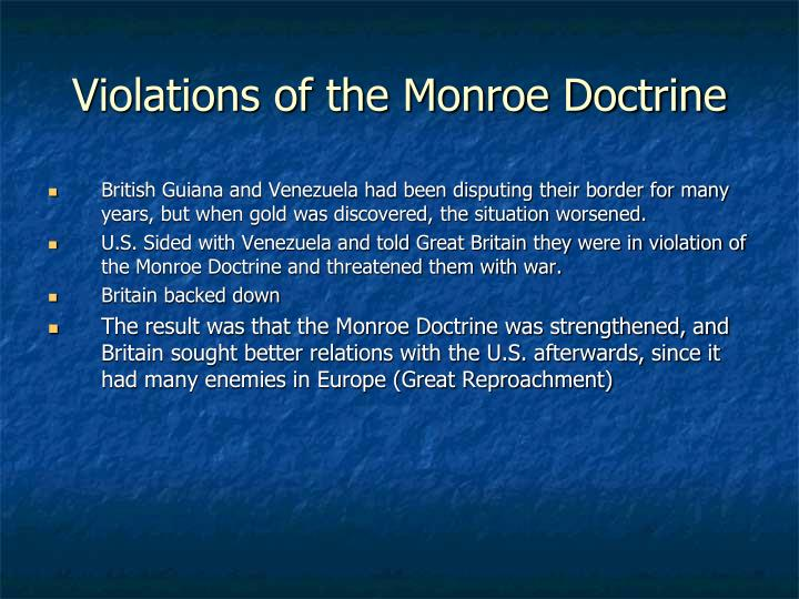 Violations of the Monroe Doctrine