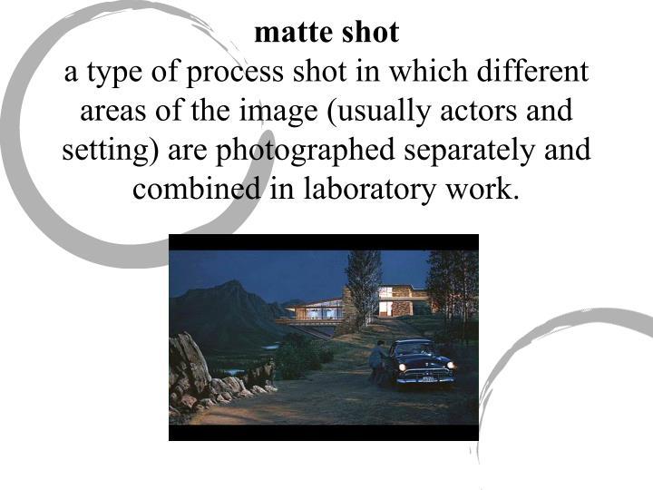 matte shot