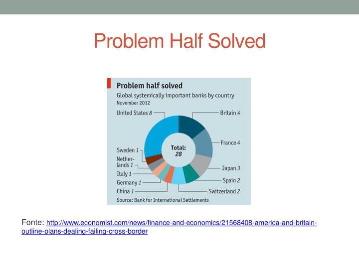Problem Half Solved
