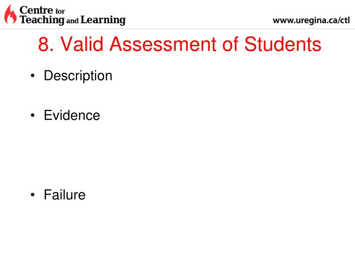 8. Valid Assessment of Students
