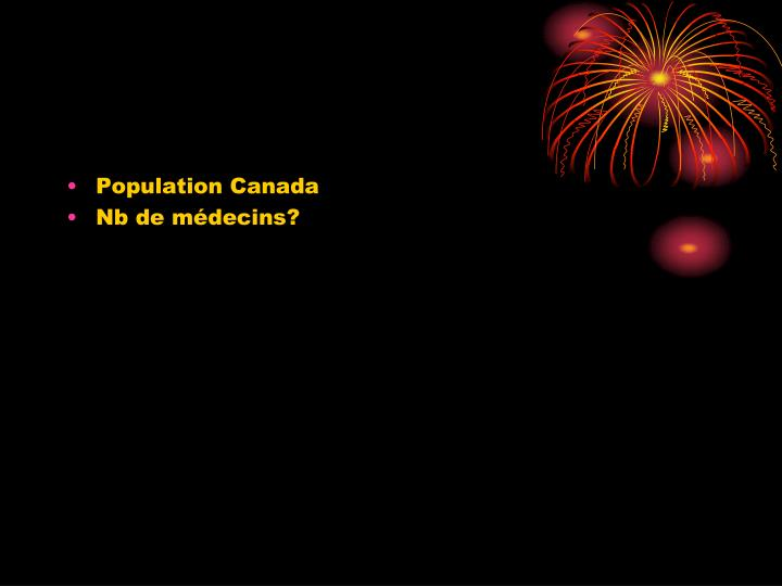 Population Canada