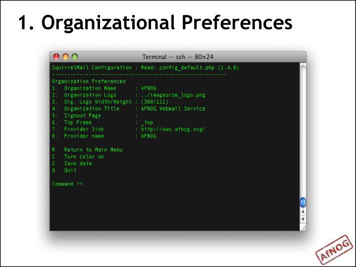 1. Organizational Preferences