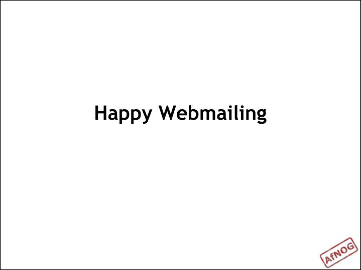 Happy Webmailing