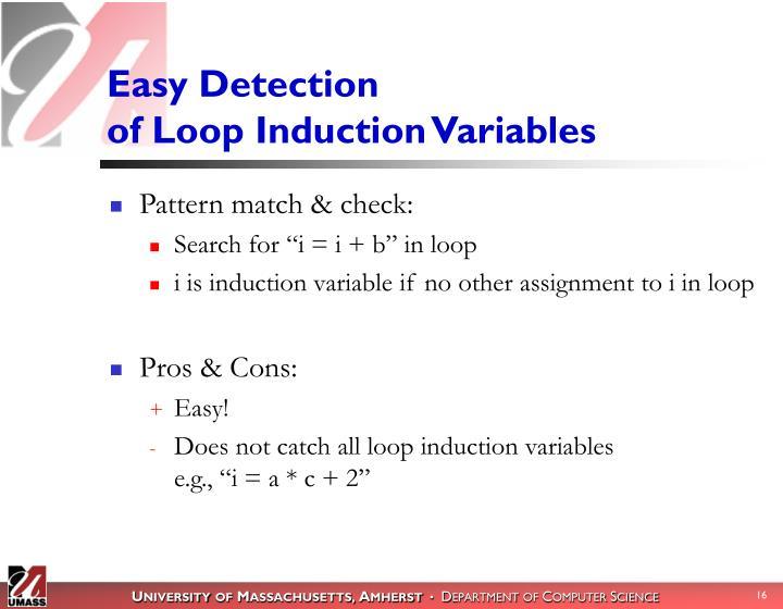 Easy Detection