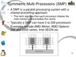 symmetric multi processors smp