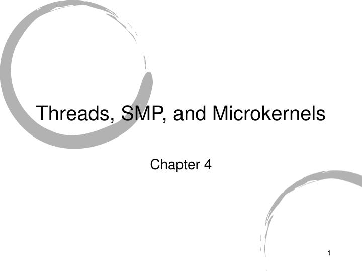 Threads smp and microkernels